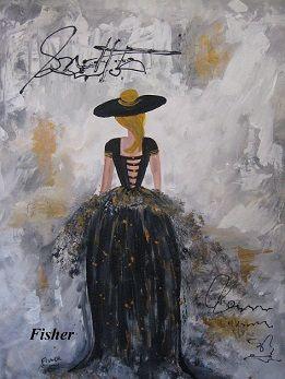 Mes femmes de mode  24 x 18 par: Louise Fisher Sanscartier
