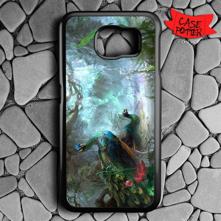 Beautiful Peacock Samsung Galaxy S7 Black Case