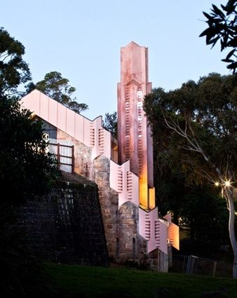 The incinerator on the edge of Willoughby Centennial Parklands.