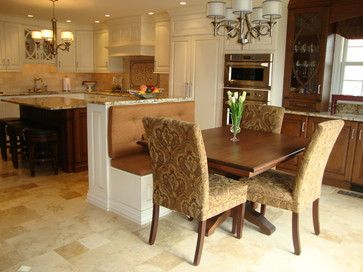 Bench Seating For Eat In Area Next To Powder Room Wall Find This Pin And More On Banquette Kitchen