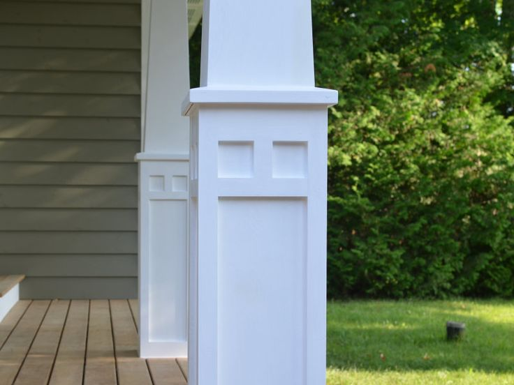 Best 20 porch columns ideas on pinterest front porch for Tapered craftsman columns