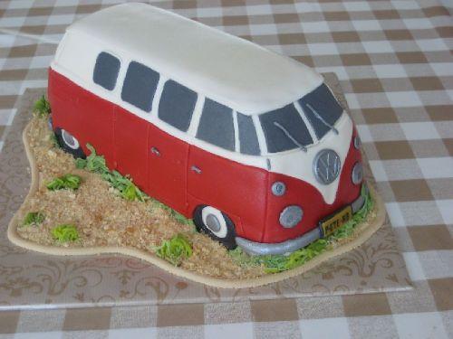 volkswagenbus taart