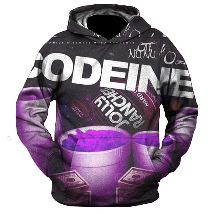 Codeine word cup Hoodie