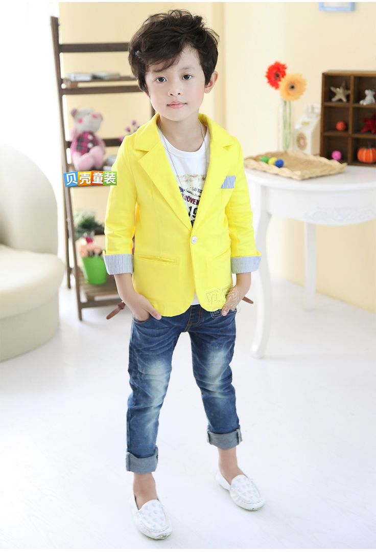Yellow Kidu0026#39;s Blazer | Boys To Men | Pinterest | Kids S And Kids Boys