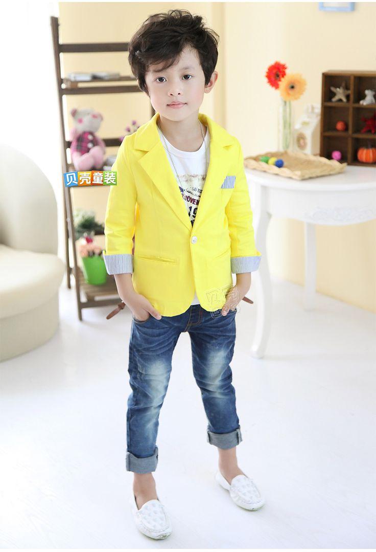Yellow Kidu0026#39;s Blazer | Boys To Men | Pinterest | Kids S And Kids Boys