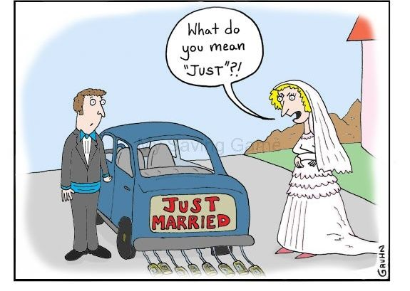 """♥ First Guy (proudly): """"My wife's an angel!""""  ♥ Second Guy: """"You're lucky, mine's still alive.""""    Click for more jokes about #marriage."""