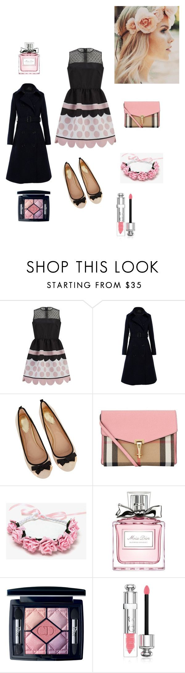 """Zierlicher Stil"" by taniaazzini on Polyvore featuring moda, RED Valentino, Oasis, Burberry e Christian Dior"