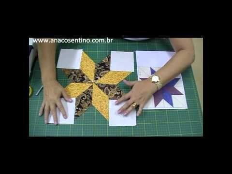 ▶ Patchwork Ana Cosentino: Estrela 8 Pontas - YouTube