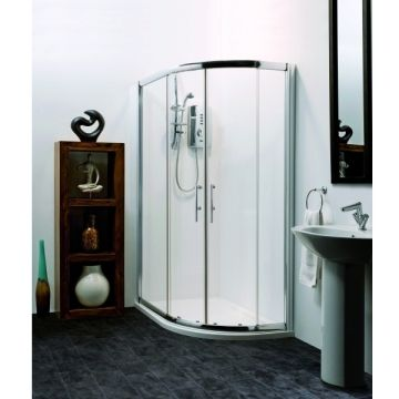 Hydrolux Genoa 900 x 760mm Quadrant Shower Enclosure Pack with Tray & Waste Right Hand