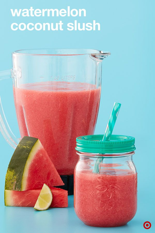 Keep chill with this fruity four-ingredient summer slush, a refreshing and delicious blended beverage fit for any summer day. All you'll need is ZICO Watermelon Raspberry Coconut Water, cubed watermelon, a lime and some ice. So easy. And not a bad way to get in those extra electrolytes when you're spending the day by the pool.