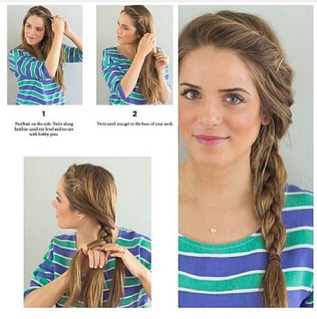 cute braid lovely hair & nails