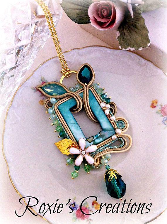 Soutache Necklace Handmade Necklace Soutache Jewelry