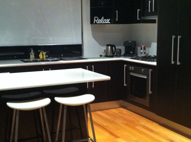 Modern, open plan kitchen in Wallarah Lodge
