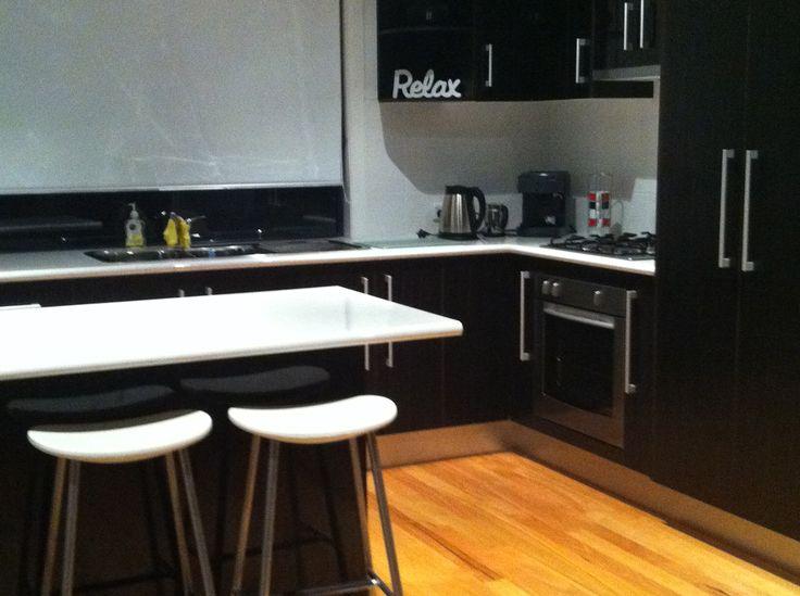 Modern, open plan kitchen in Wallarah Lodge