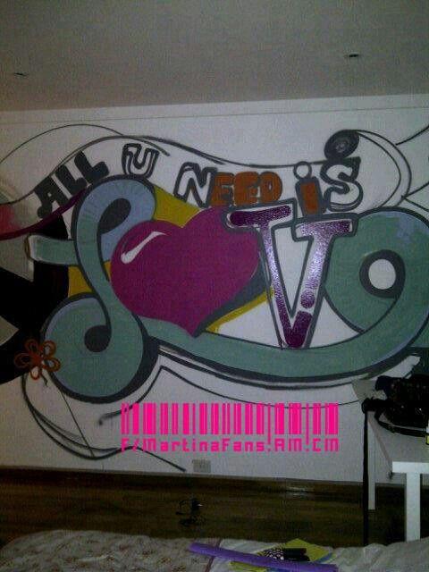El grafitti de Tini en su habitacion :)
