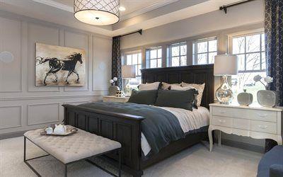 Scarica sfondi letto, foto, cuscino, interna della camera da letto, petto