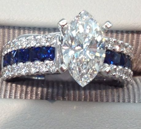 Here she is, MY THIN BLUE LINE wedding ring, I LOVE HER (and HIM heehee)