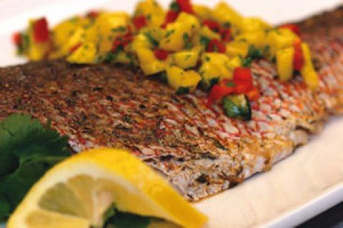 Baked Caribbean Red Snapper