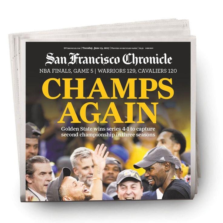 Warriors 2017 NBA finals Game 5 newspaper 6/13/2017