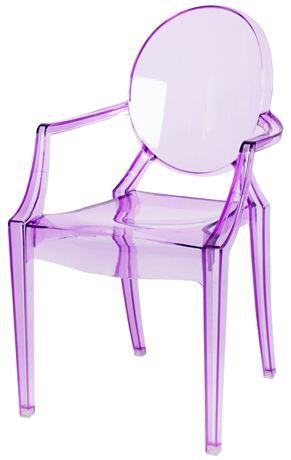 Köp Alice & Fox Stol Transparent Lila | Barnrummet Barnmöbler | Jollyroom