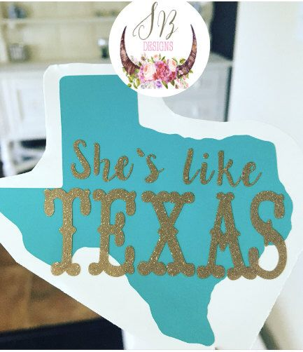 She's like Texas Decal   Texas Girl Decal   Texas Country Music Decal Sticker   Josh Abbott Band by SophieBreannaDesigns on Etsy https://www.etsy.com/listing/404630496/shes-like-texas-decal-texas-girl-decal