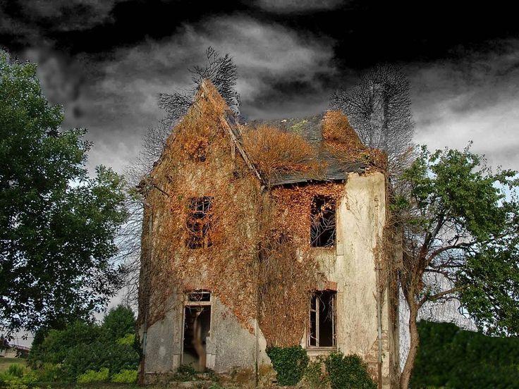 Maison en ruine sur D901 sortie de Chalus vers Rochechouart  -Jl Capdeville