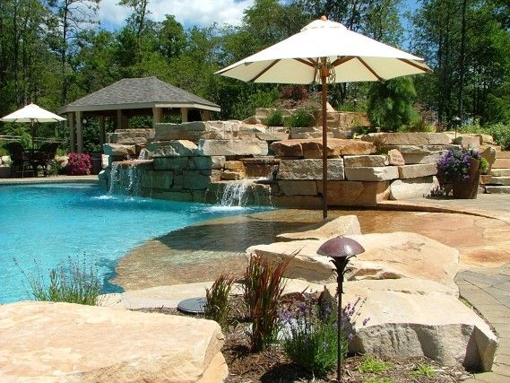 Pool And Outdoor Kitchen Designs Interesting Design Decoration