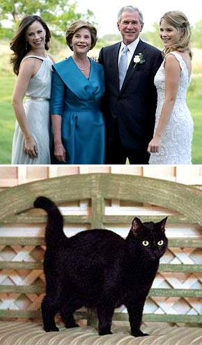 President Bush's Family and cat India.