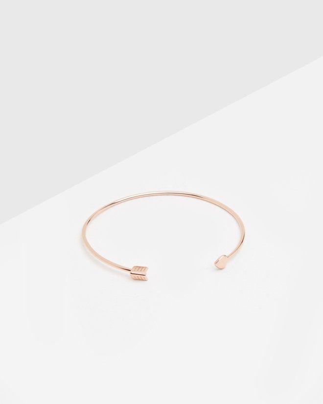 Cupid arrow heart cuff bracelet - Rose Gold | Jewellery | Ted Baker UK