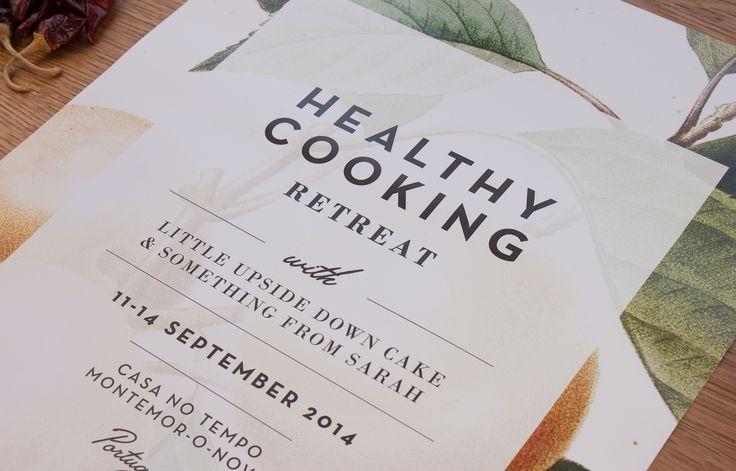 Barn Studio | Healthy Cooking Retreat poster design