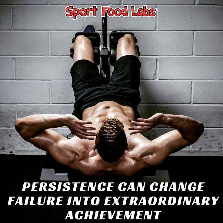 Persistence Can Change Failure Into Extraordinary Achievement!    La Perseveranza Può Trasformare il Fallimento in uno Straordinario Successo      Follow Us @sportfoodlabs    Seguici @sportfoodlabs    Our Tags: #SportFoodLabs #Fuscle #FuscleTeam