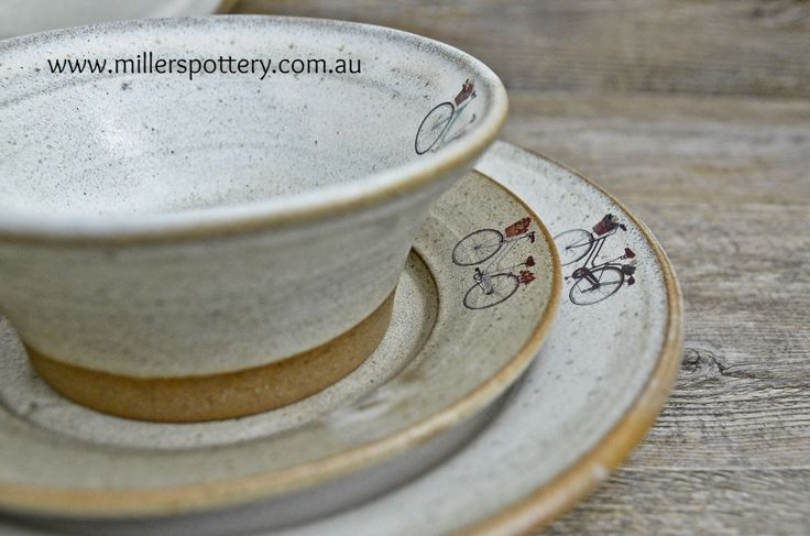 Handmade Ceramic Kitchenware Collection by Miller's Pottery - plates, saucers, soup bowls, mugs, bowls