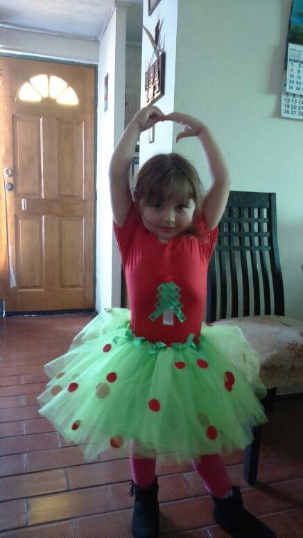 Vestido navideno con fran santiago chile   Vestido navideño con frca santiago chile