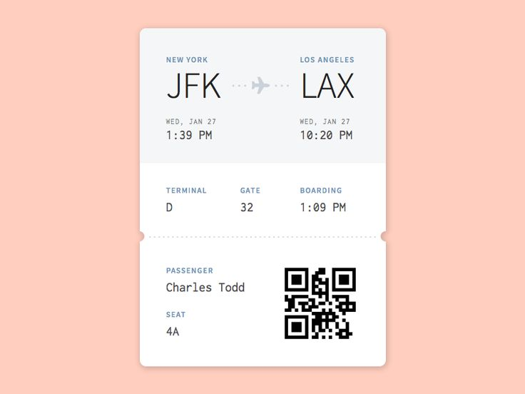 Flying out to LA with one of my favorite people in a few weeks, so I thought it'd be fun to make my own boarding pass in the meantime :) Part of Daily UI #24 Thanks @michaelmazur for the invite!
