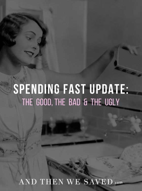Happy six-month anniversary Spending Fast!  Darlene breaks down everything ... the good, the bad and the ugly now that she's 6 months into her Spending Fast. | AndThenWeSaved.com