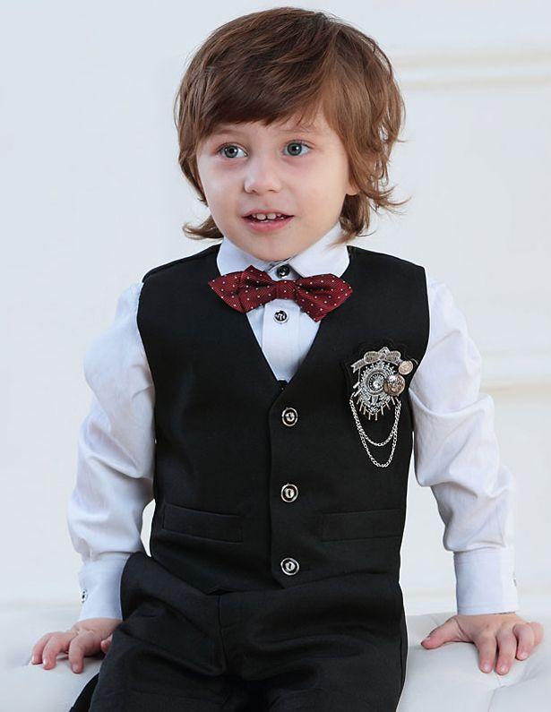 Enfants Tuxedo / Veste / Vetements De Performance / Petits Costumes Fixes / Anneau Porteur Costumes