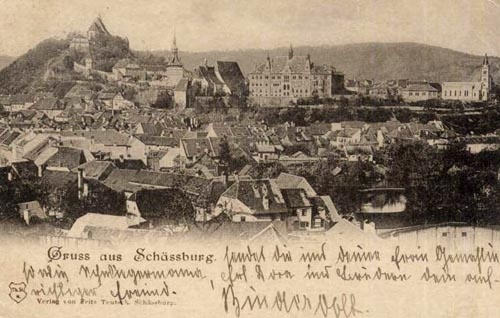 Sighisoara - Vedere Generala - 1900