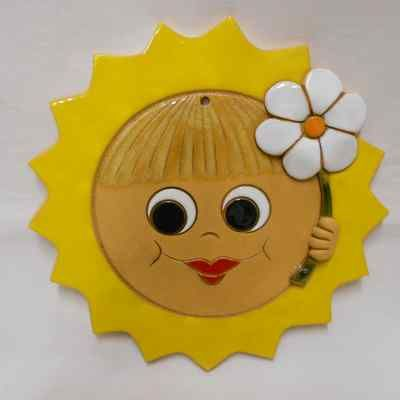 Slunce velké s kytkou 21 cm
