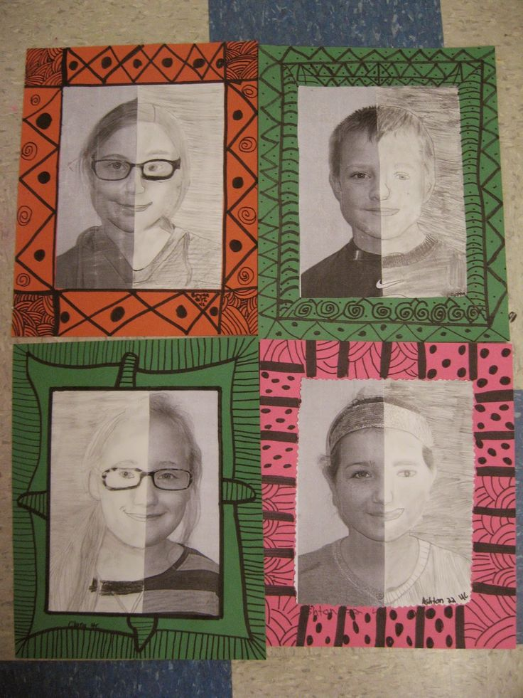 Jamestown Elementary Art Blog: 4th grade Mary Cassatt portraits                                                                                                                                                                                 More