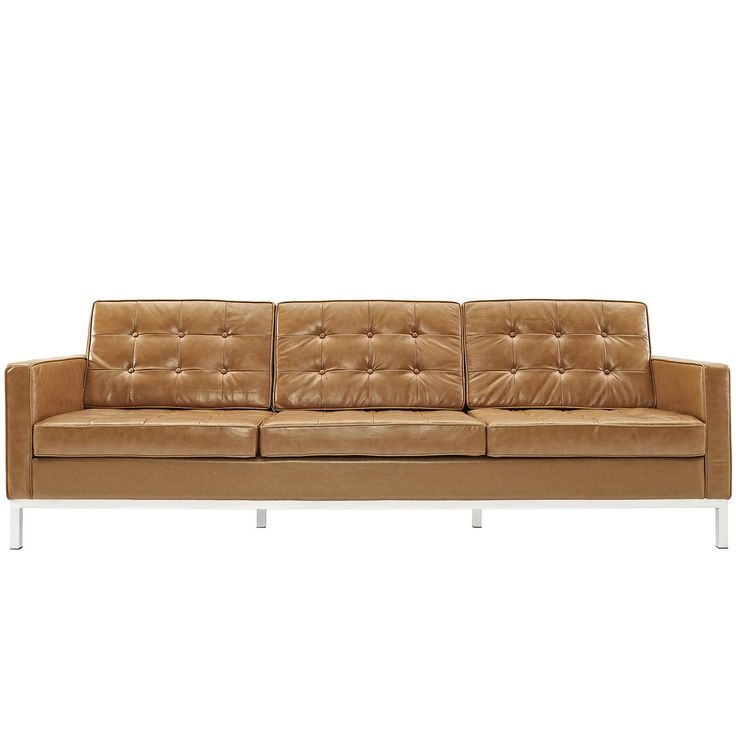 bateman leather sofa - Tan Leather Sofa