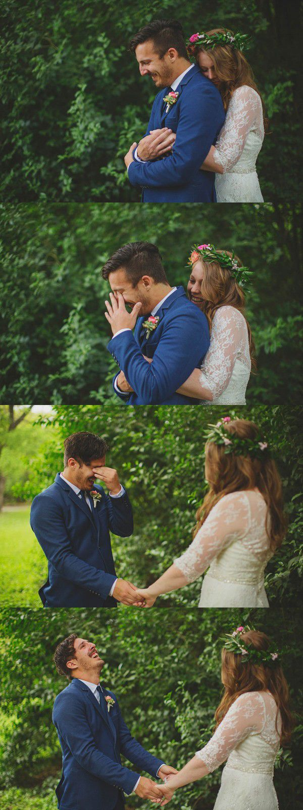You could say that we're big on moments here at Junebug Weddings, and there's no moment that gets us worked up like an emotional first look!