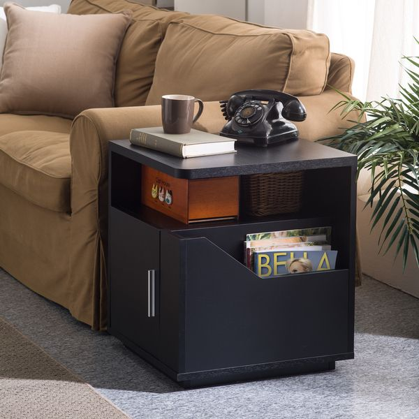 Furniture of America Modern Jules Black Storage End Table - Overstock Shopping - Great Deals on Furniture of America Coffee, Sofa & End Tables
