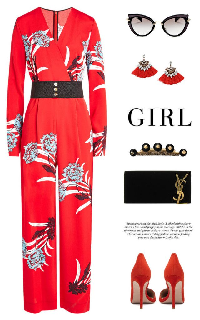 """""""Untitled #387"""" by jessgomes99 ❤ liked on Polyvore featuring Diane Von Furstenberg, Miu Miu, Yves Saint Laurent and Gucci"""