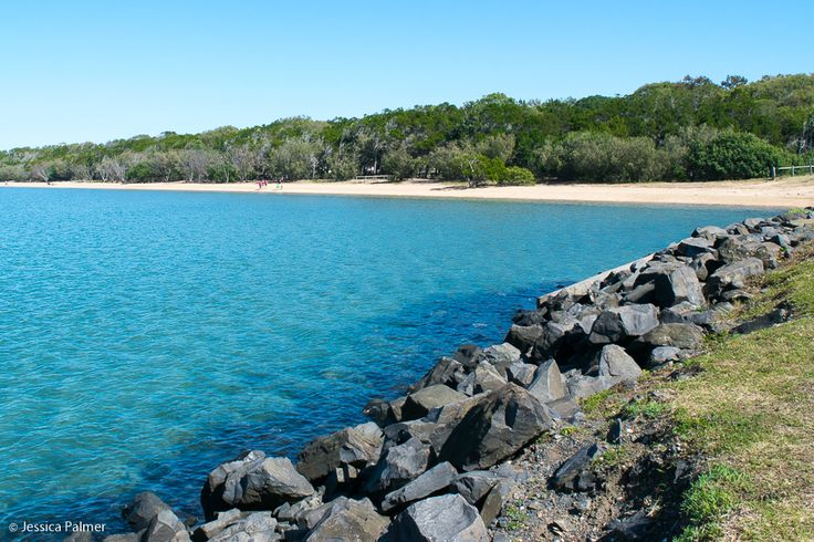 Hervey Bay at Urangan (near the marina and rockwall). Click the image above for reasons to consider Hervey Bay for your next family getaway.