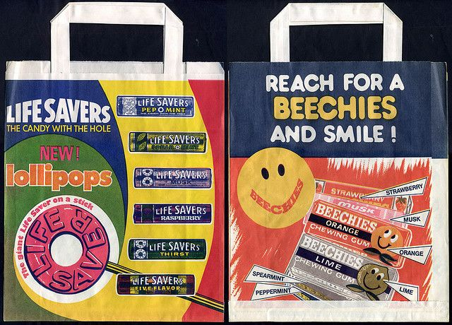 Life Savers & Beechies Chewing Gum sample bags - 1970's