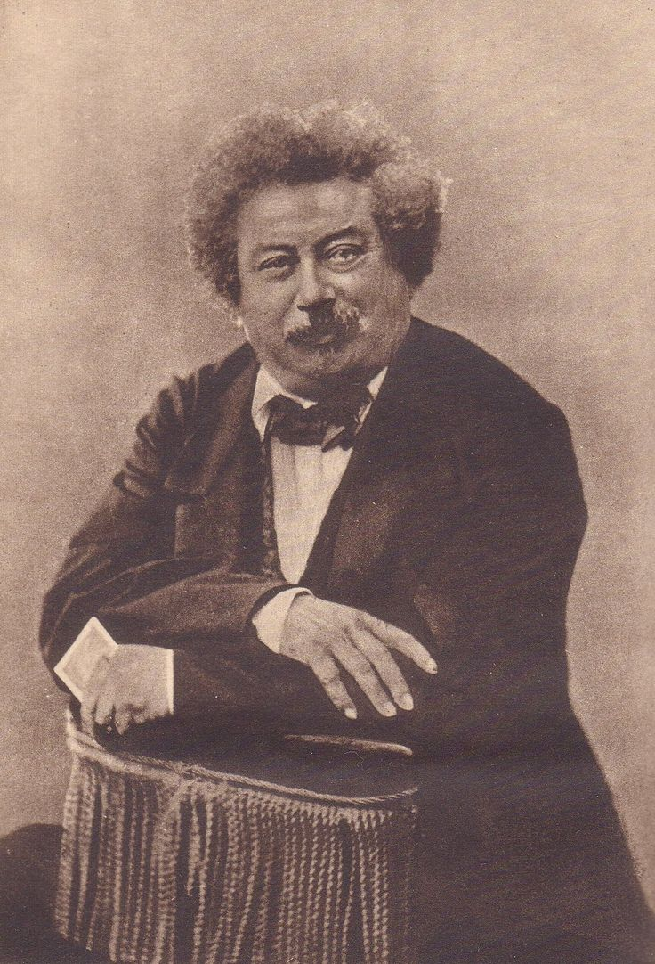 alexandre-dumas- father, by Nadar.