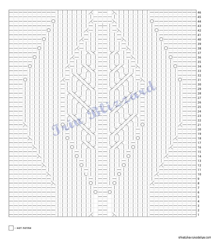 Туника спицам от бразильского дизайнера Марии Фило. Для размера: S Окружность груди: 91 см Пряжа: Присма от Mister Joe (74% хлопок, 26% вискоза; длина = 140м/100г) 477 г Спицы: 5,5 мм для резинки и…
