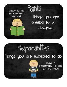RIGHTS AND RESPONSIBILITIES SOCIAL STUDIES UNIT - TeachersPayTeachers.com