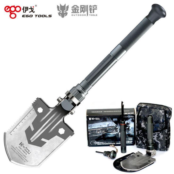 Kingkong много   функция раскладной лопата выживания мастерок диббл подобрать кемпинг на открытом воздухе инструмент купить на AliExpress