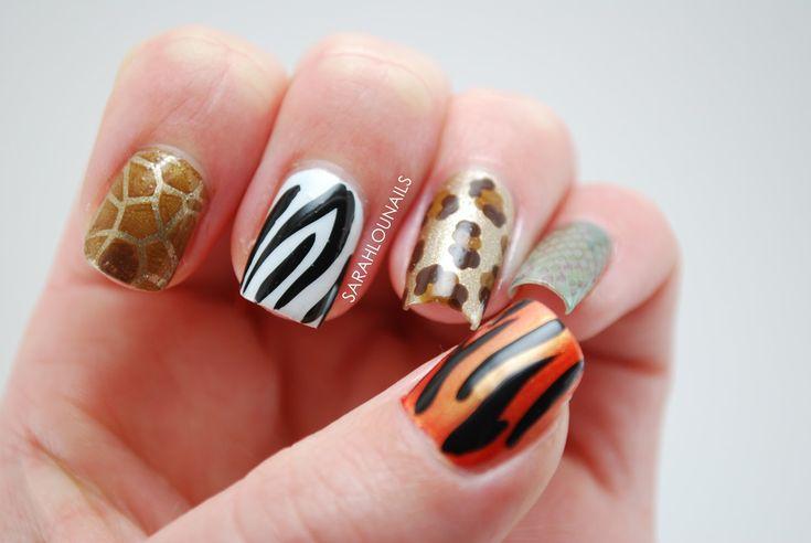 Uñas decoradas animal print – 50 nuevos ejemplos | Decoración de Uñas - Manicura y Nail Art - Part 4
